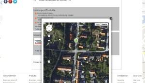 Kartendarstellung Unternehmensprofil
