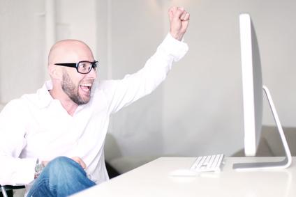 Unternehmer ist begeistert